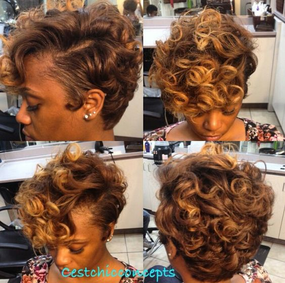 Big Soft Curls Hairstyle for African American Women 11