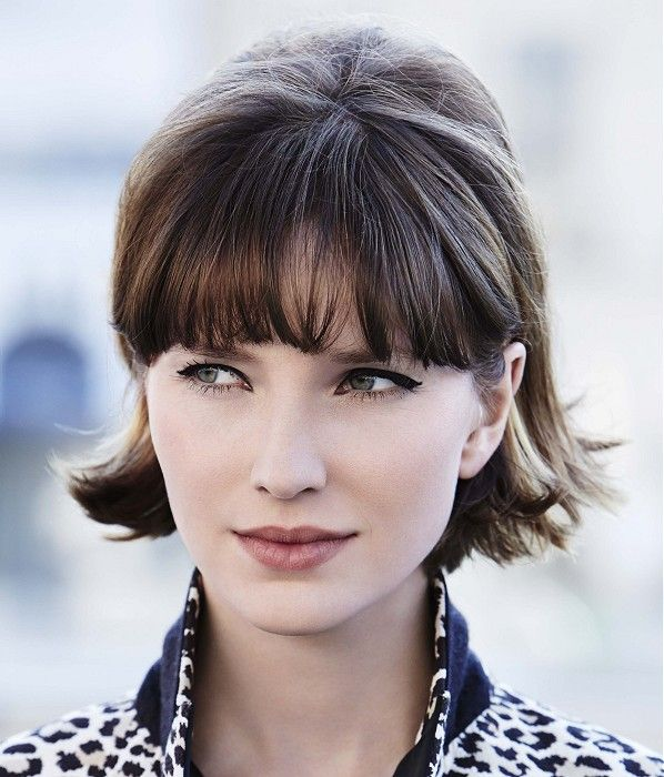 short brown hairstyles for round faces short-brown-hairstyles-for-round-faces-1
