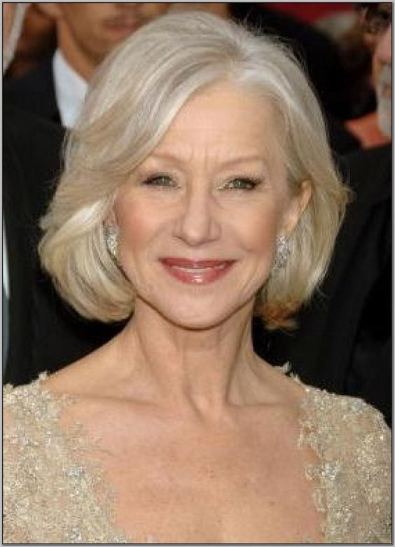 Short Hairstyles for Women Over 60 with Glasses chin-length-bob-women-over-60-1