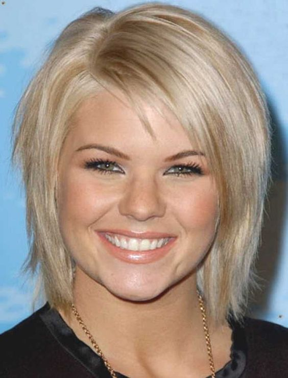 Fine Short Hair Round Face 4