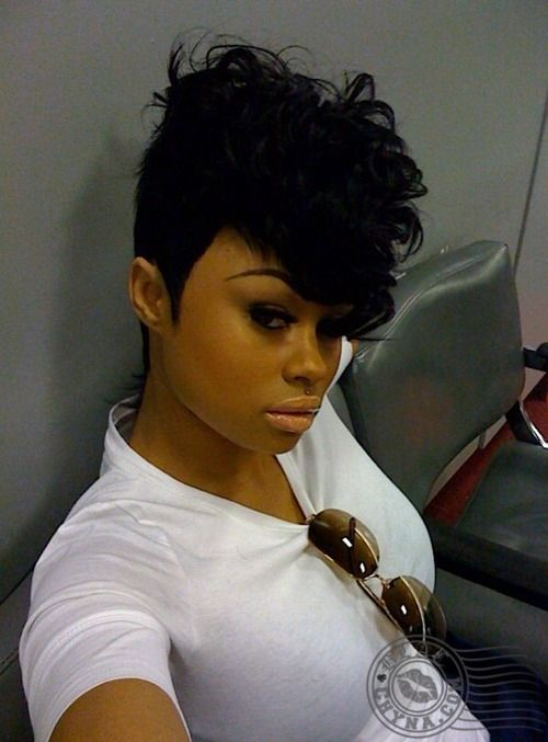 Finding New Short Hairstyles 2016 jet-black-curly-pixie-hair-style-idea-2