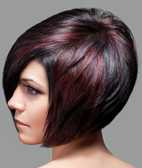Options for Short Black Hairstyles 2016 bob-hair-cut-burgundy-highlight-style-1
