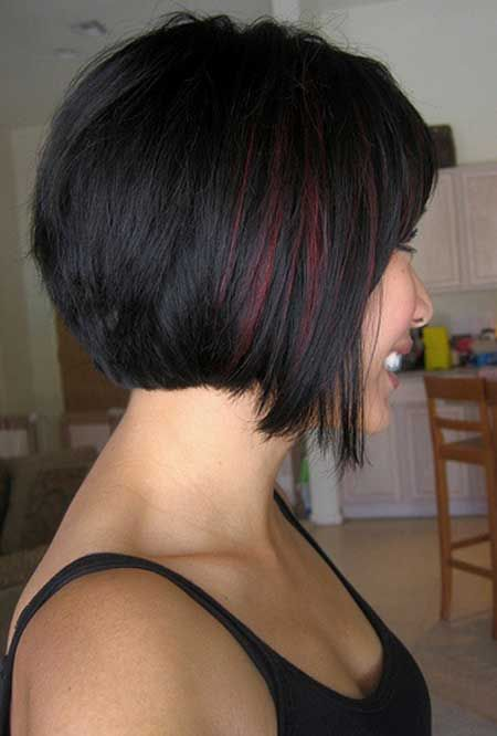 Options for Short Black Hairstyles 2016 bob-hair-cut-burgundy-highlight-style-5
