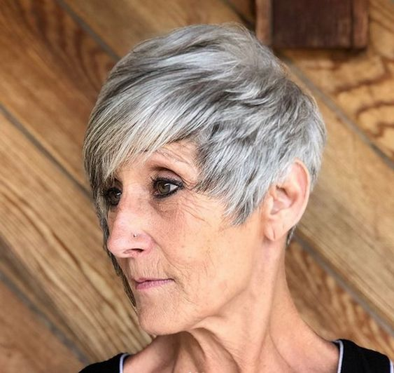Trendy soft wavy pixie haircuts for older women 1