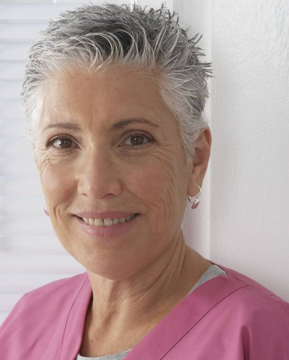 Beautiful looking very short pixie haircut for women over 60 5