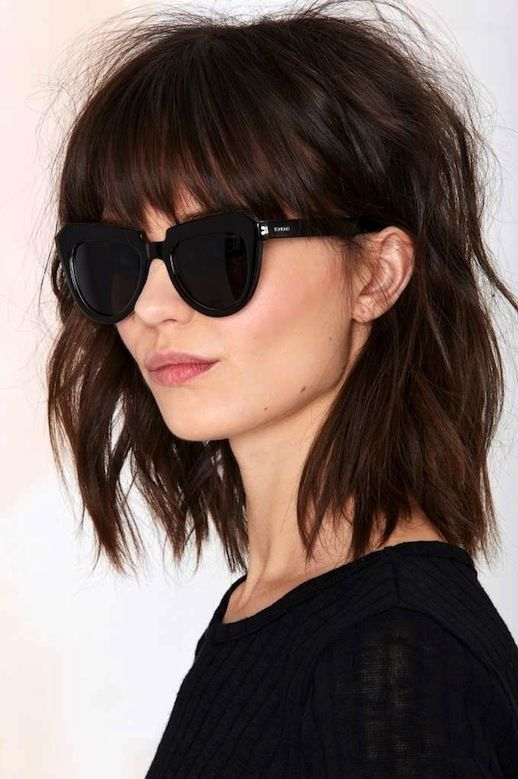 Top Shoulder-Length Hairstyles to Try in 2017 Messy_Fringe_Hairstyles_ideas_1