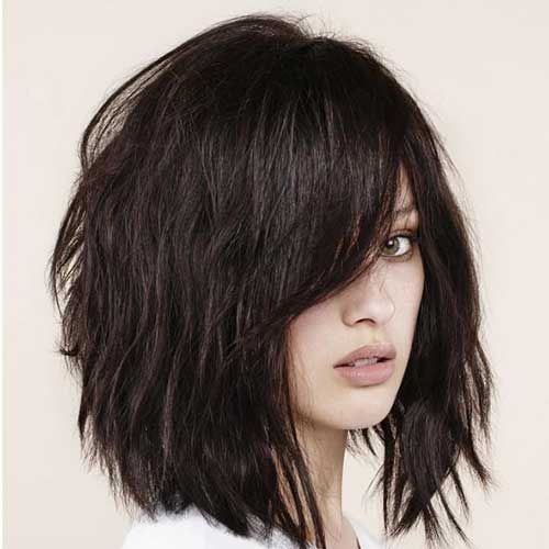 Short Haircuts For Thick Hair To Embellish Your Look Asymmetric_short_hairstyle_thick_hair_2