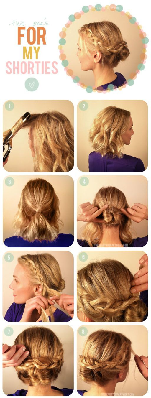 Great Styling Ideas for Short Hairstyles 2017 Bobby_Pins_Make_Crown_Braid_1