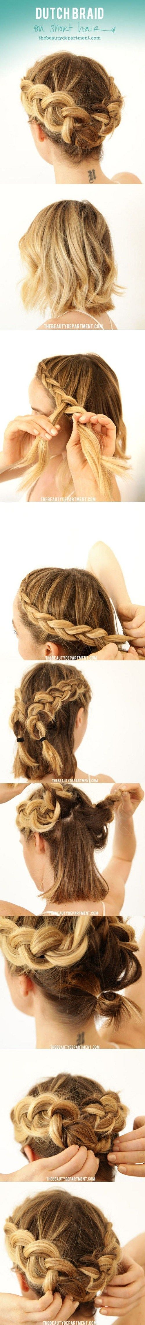 Great Styling Ideas for Short Hairstyles 2017 Bobby_Pins_Make_Crown_Braid_2-1