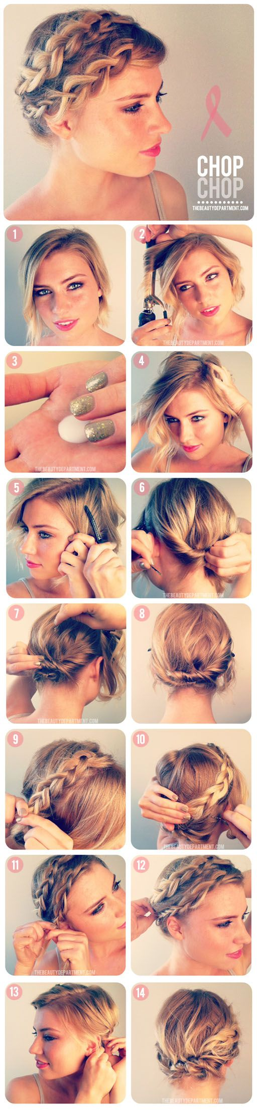 Great Styling Ideas for Short Hairstyles 2017 Bobby_Pins_Make_Crown_Braid_4