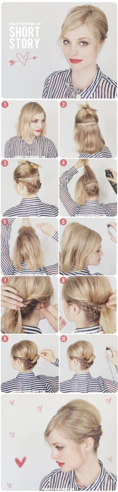 Great Styling Ideas for Short Hairstyles 2017 Bobby_Pins_Make_Crown_Braid_5-1