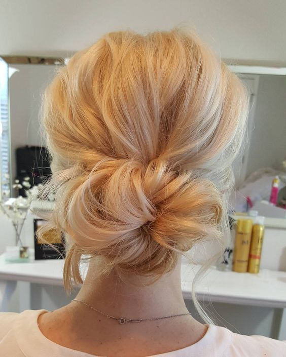 Adorable Wedding Hairstyles for Short Hair Low_Messy_1-1