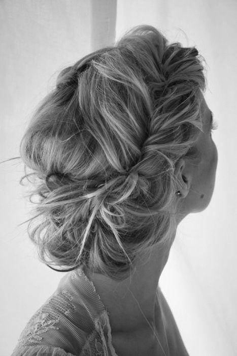 Adorable Wedding Hairstyles for Short Hair Messy_Crown_Braid_2