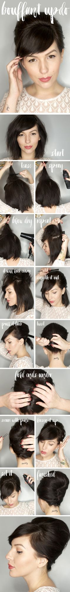 The Easy Updos For Short Hair That Will Amaze Men! easy_updos_short_hair_bangs_5