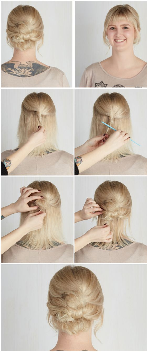The Easy Updos For Short Hair That Will Amaze Men! easy_updos_short_hair_bangs_6