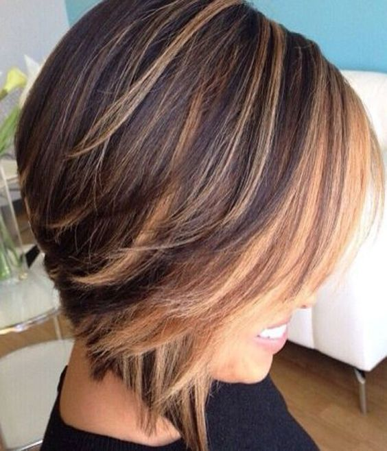 Inverted Bob Color 2 Short Hairstyles 2019