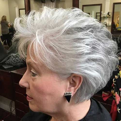 Classy Short Hairstyles for Older Women older_women_stacked_haircut_50yo_2