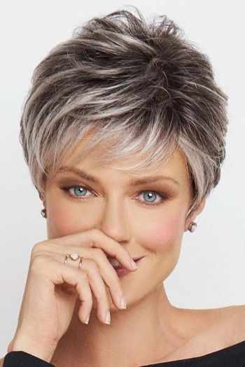 Hairstyles For Gray Hair Without Looking Old older_women_grey_short_hairstyles_1