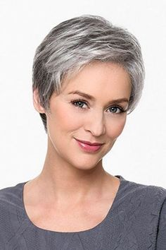Hairstyles For Gray Hair Without Looking Old older_women_grey_short_hairstyles_2