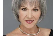 40 Pretty Short Hairstyles for Women Over 50 with Thin Hair (Update 2021) Bob_Bangs_Older_Woman_Over_50_4-235x150