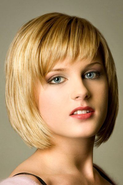 Popular Short Blonde Highlighted Hairstyles blonde_bob_flirty_bangs_6