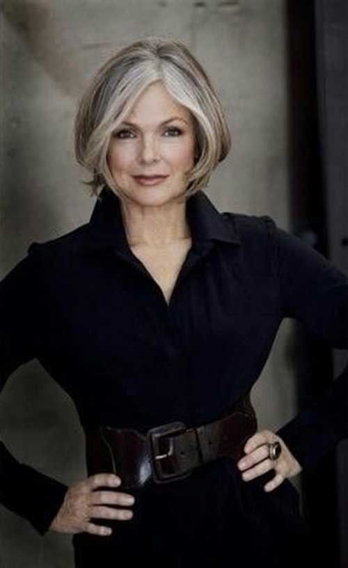 Recommended Short Hairstyles for Gray Hair Over 60 bob_hairstyles_women_over_60_5