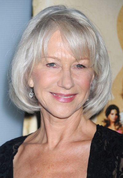 White Hair And Classic Bob Hairstyle For Women Over 60