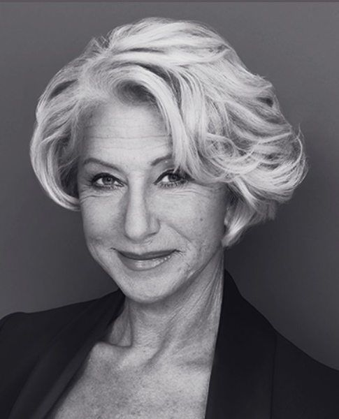 wavy bob like helen mirren