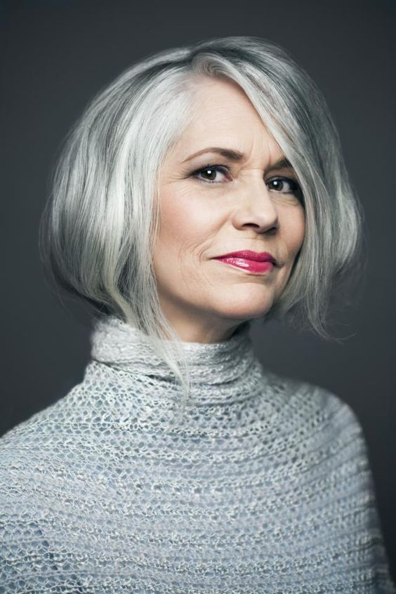 older women still look beautiful even with grey hair
