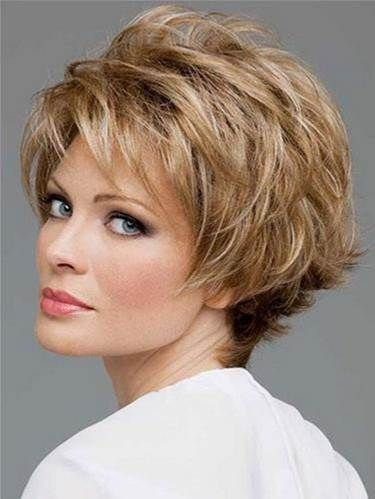 amazing short haircut for women over 40 with blonde hair