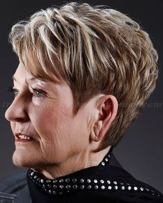 the best short haircut for women over 60