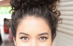Black Hairstyles for Natural Curly Hair Easy to Maintain Natural_Curly_Messy_Bun_2-235x150