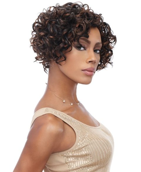 this short curly bob make your face look younger