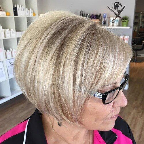 beautiful pixie for over 60 women with glasses