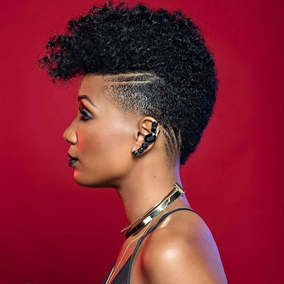 The Best Short Curly Hairstyles for Black Women with Natural Hair frohawk_hairstyles_2018_4-1