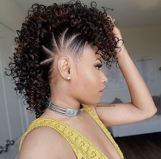 Simple Short Blonde Hairstyles for Round Faces in Winter Day natural_mohawk_hairstyle_women_2018_12