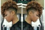 beautiful brown curly mohawk