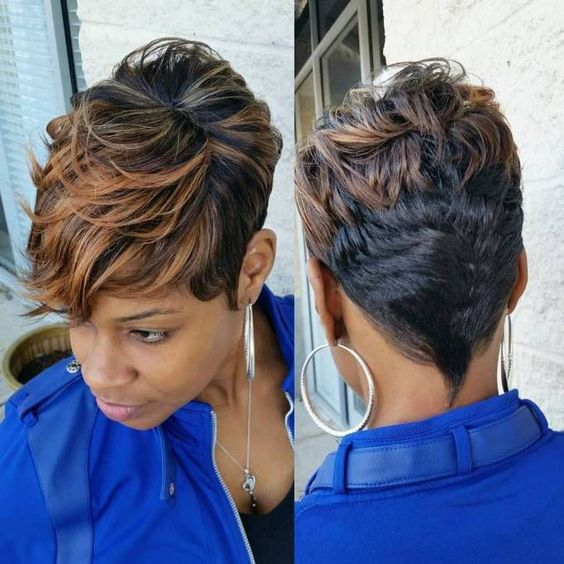 Best and Cute Hairstyles for Short Hair African American Women asymmetrical_pixi_african_american_women_1