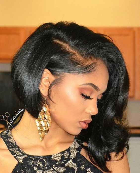 Shoulder Length Hairstyle African American Women 6 Short