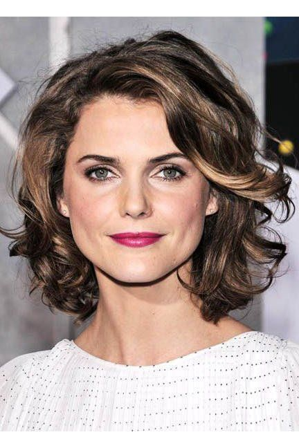 Recommended Short Curly Hairstyles for Round Face volume_layer_packed_lob_hairstyle_1