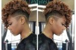 110 Fabulous Short Hairstyles for Black Women african-american-women-mohawk-haircut-150x100