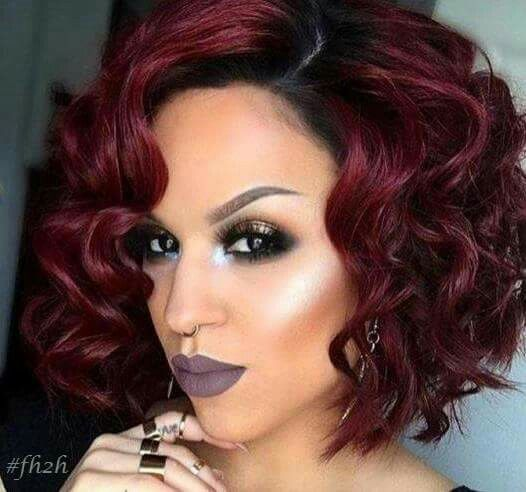 awesome choppy short bob hairstyle for black women