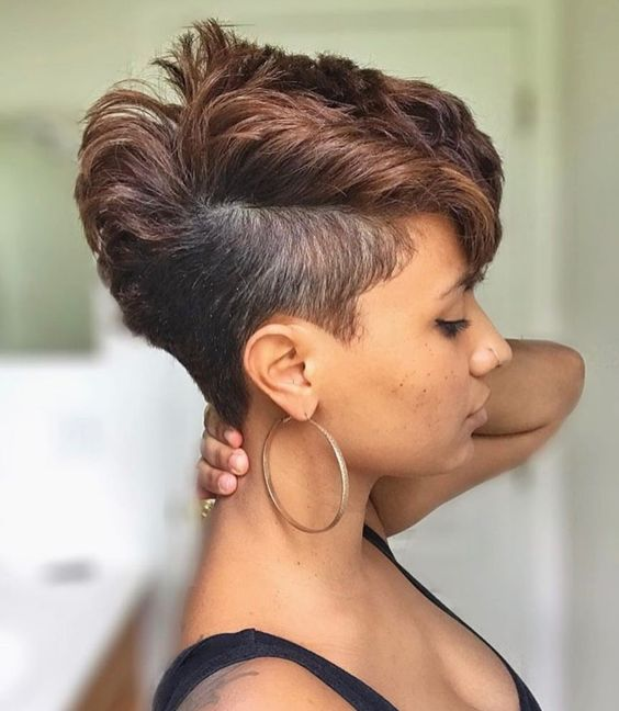 beautiful mohawk thick hairstyle for black women