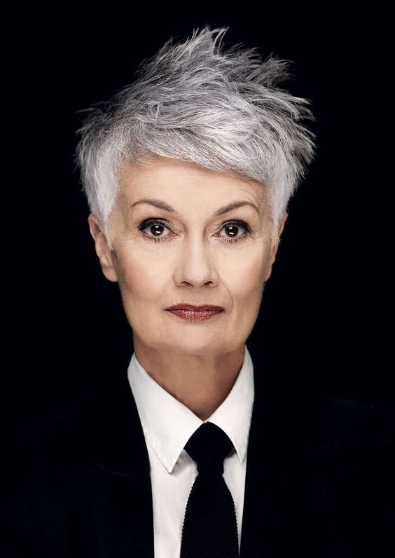 beautiful pixie haircut for older women with thin hair