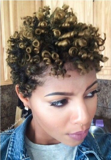 beautiful pixie with spiral curls