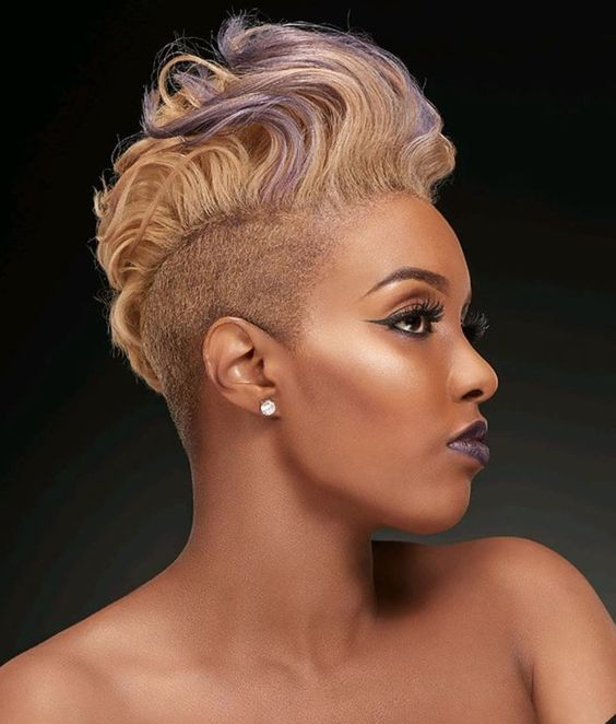 blonde mohawk hairstyle for black women