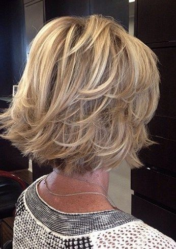 Layered Lob Hairstyle For Older Women Short Hairstyles 2020