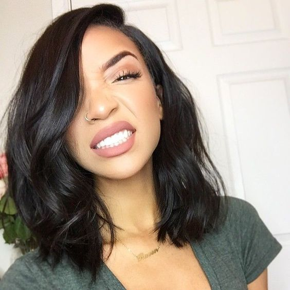 long bob haircut style for black women