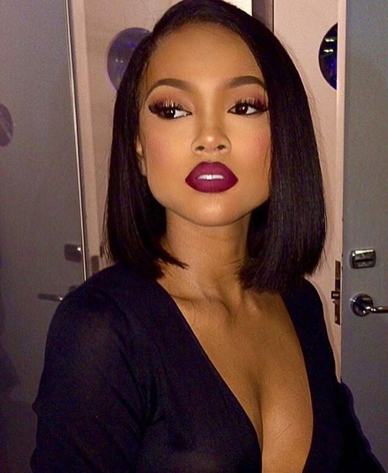 long bob hairstyle for trendy african american women