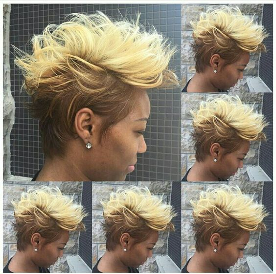 messy mohawk hairstyle